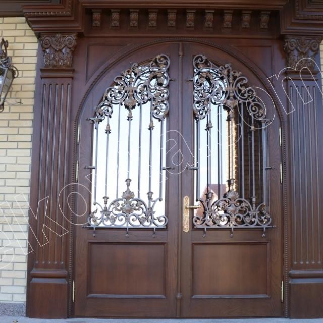 Кованая дверная филенка