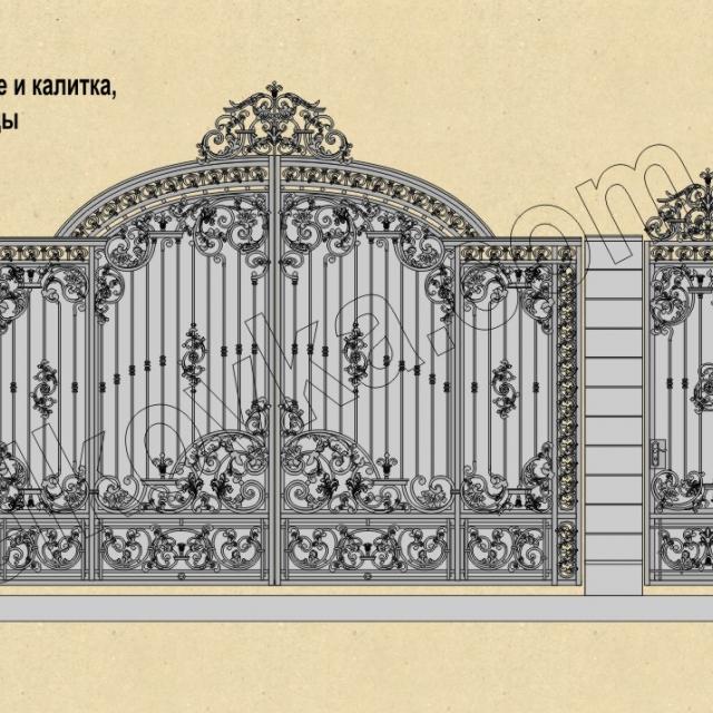 Проект кованых распашных ворот
