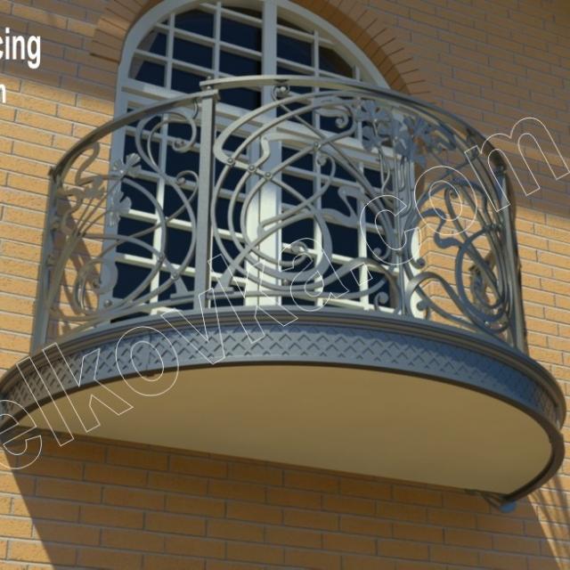 Проект балконного ограждения