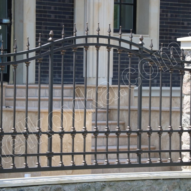 Прозрачный кованый забор
