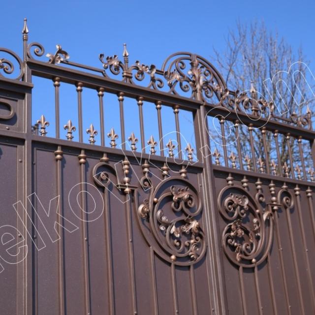 Ворота кованые с автоматикой