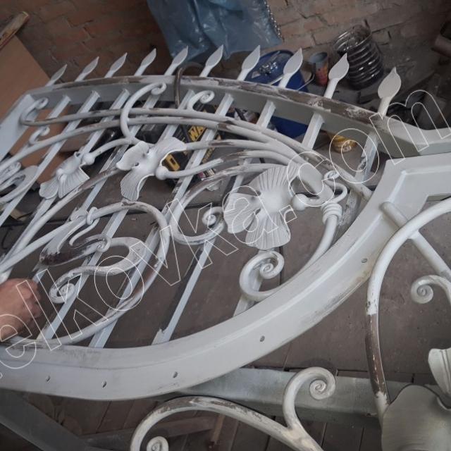 Отделка кованых ворот