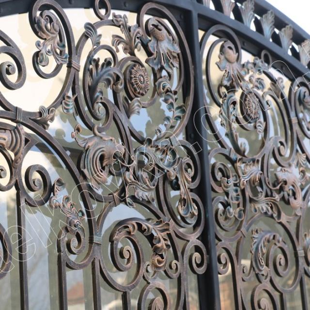Ворота ковка поликарбонат