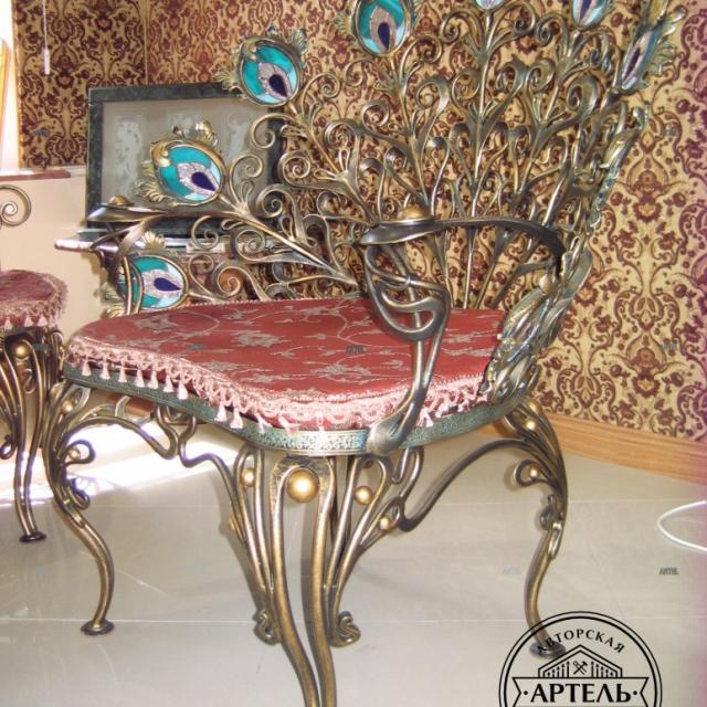 Кресло кованое Павлин