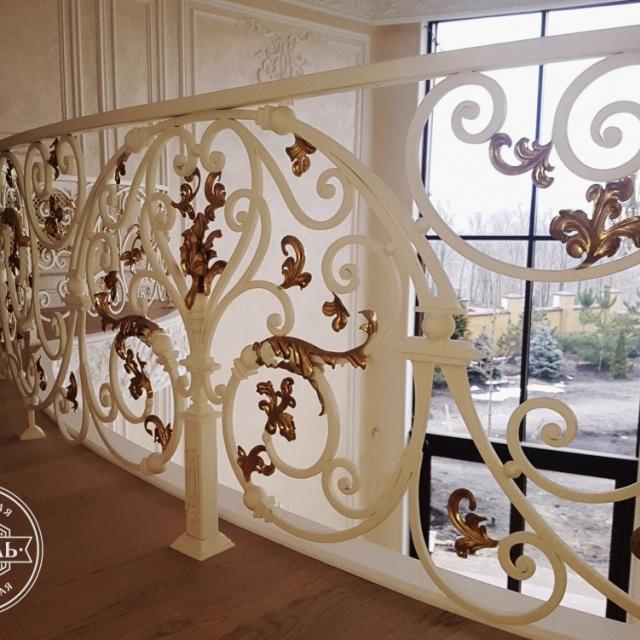 Балконное ограждение второго света