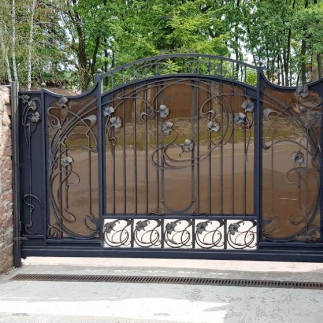 Ворота кованые откатные Романков Киевская область