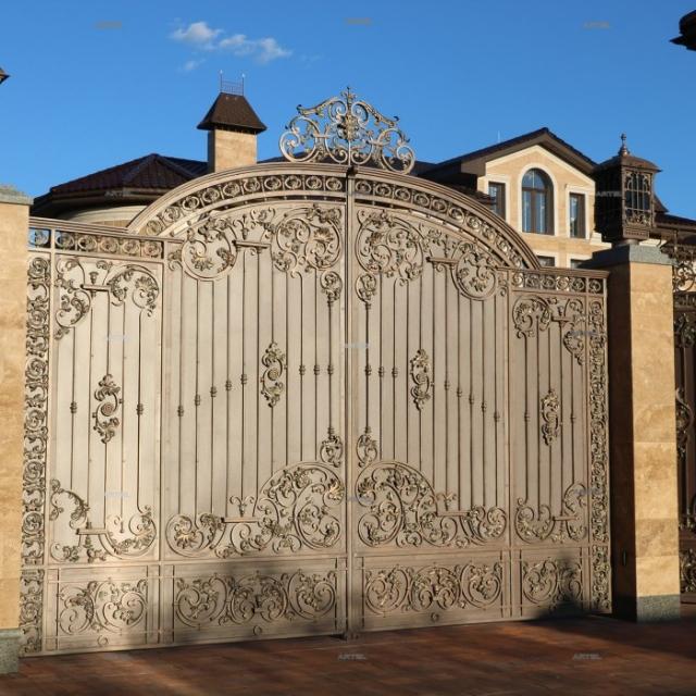 Ворота кованые распашные Осокорки Киевская область