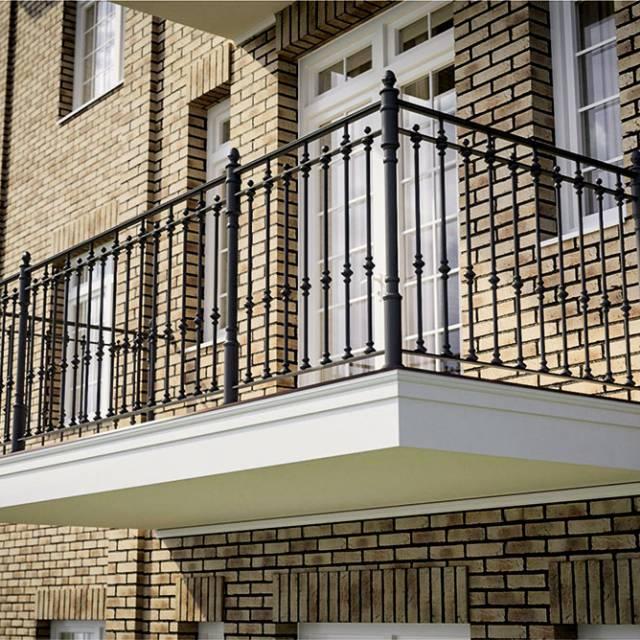 Современные перила балкона