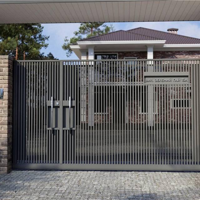 Кованые ворота в современном стиле