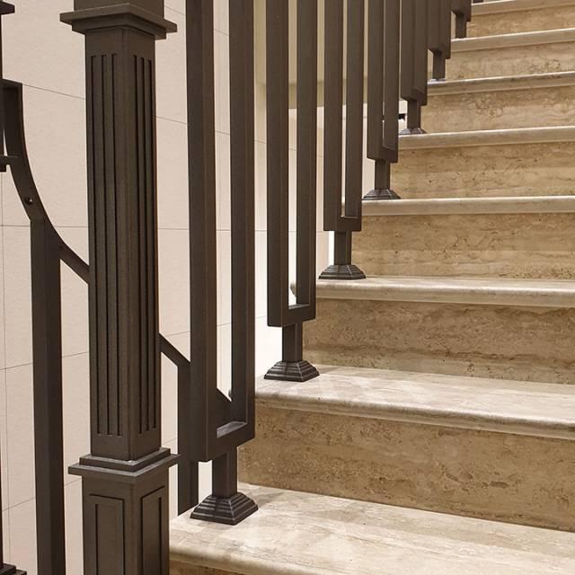 Кованые перила для лестницы Киев Стоянка Артель
