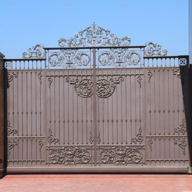 Ворота откатные кованые