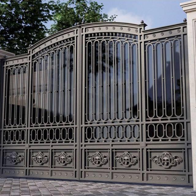 Ворота кованые современная классика