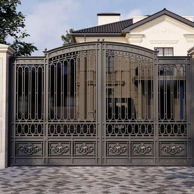 Кованые ворота современные для дома
