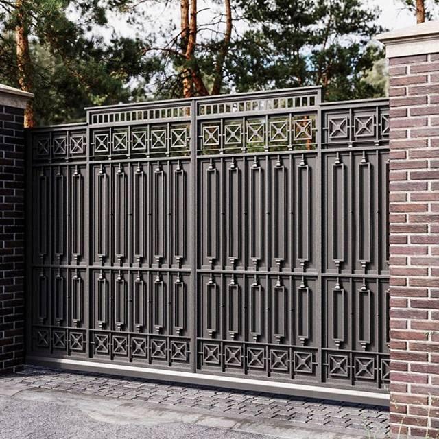 Кованые ворота откатные с автоматикой