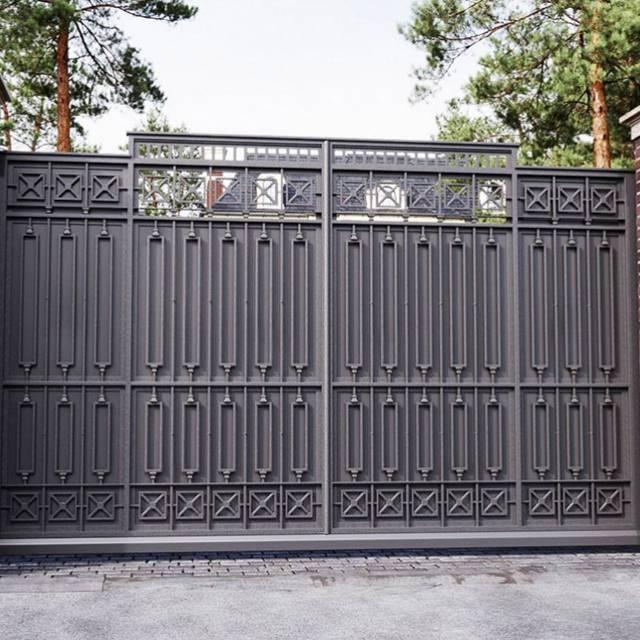 Кованые ворота современные